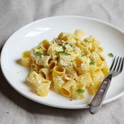 Pasta with Ricotta and Saffron