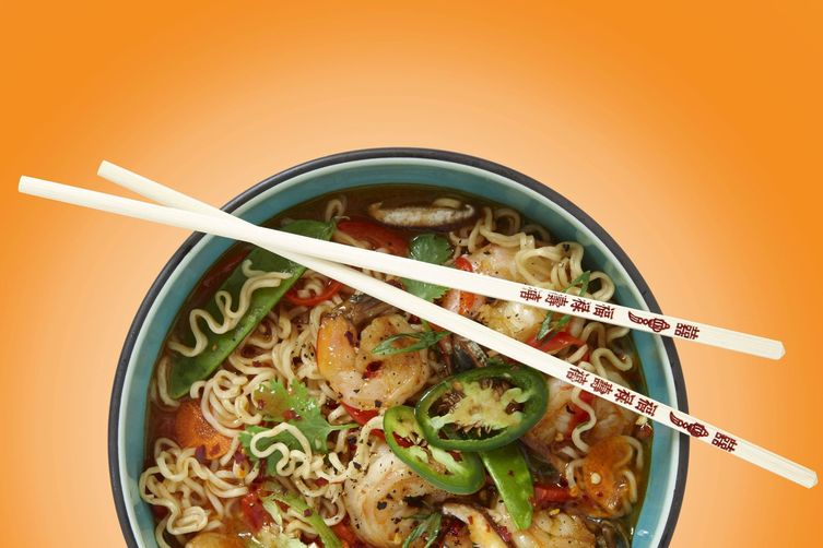 Sizzling CHA! Ramen with Shrimp