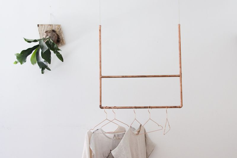 DIY Copper Clothing Rack Madelyn Hackwith Furlong