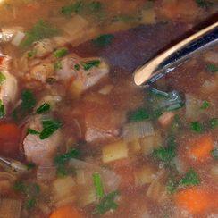 Leeky Beef Barley Soup