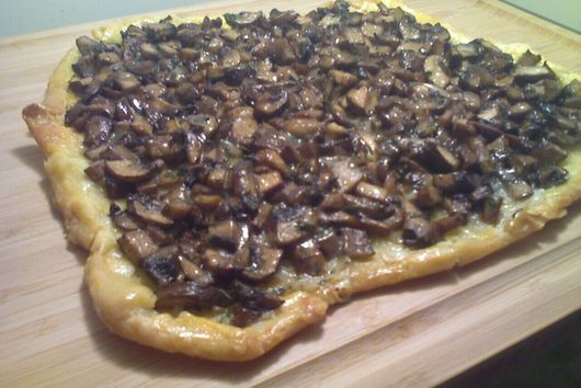 Mushroom Crostata with Roasted Garlic, Taleggio, and Thyme