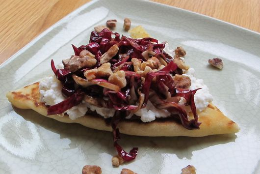 Flatbread with Ricotta, Radicchio, and Pancetta Dressing