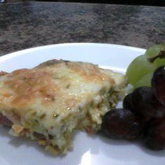 Christmas Morning Ham, Mushroom, Asparagus, and Cheese Breakfast