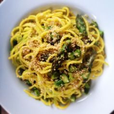 Creamy Asparagus, Lemon, and Walnut Pasta