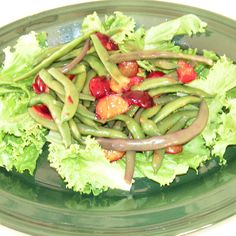 Green Bean and Plum Salad