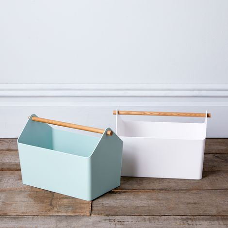 Wood-Handled Storage Box