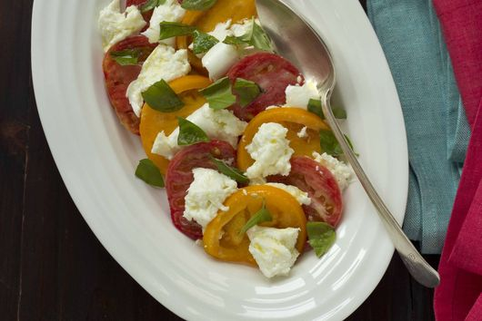 Tomato and Mozzarella Cheese Salad (insalata caprese) - Campania, Antipasto