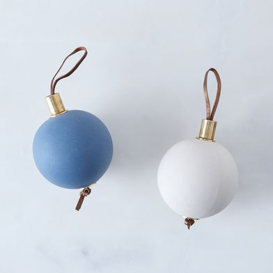 Ceramic & Brass Bulb Ornament