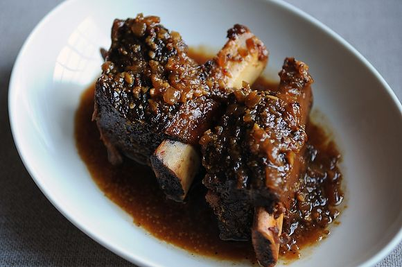 Short Ribs with Beer and Buckwheat Honey