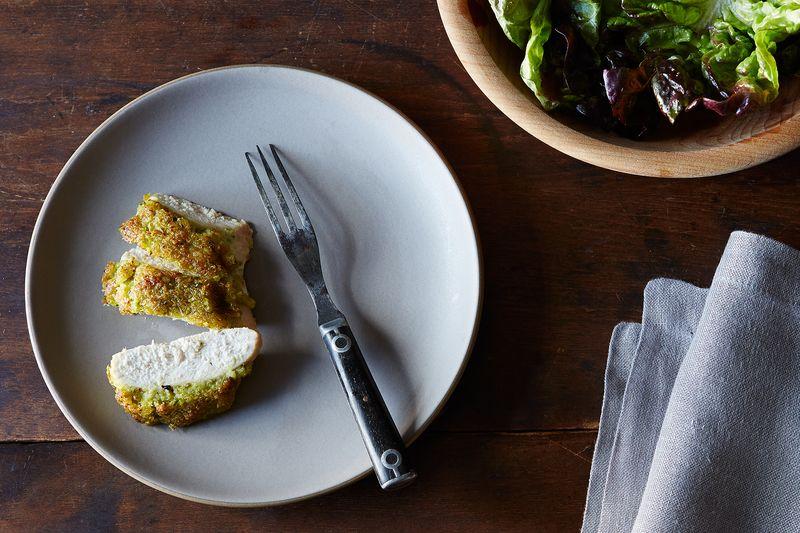 Scallion Pesto-Crusted Chicken