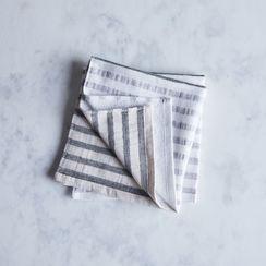 Striped Linen & Cotton Japanese Bath Towels