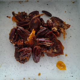 Candied orange pecans with bourbon