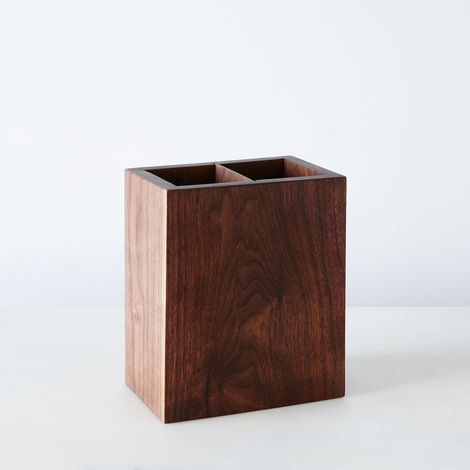 Walnut Kitchen Utensil Holder