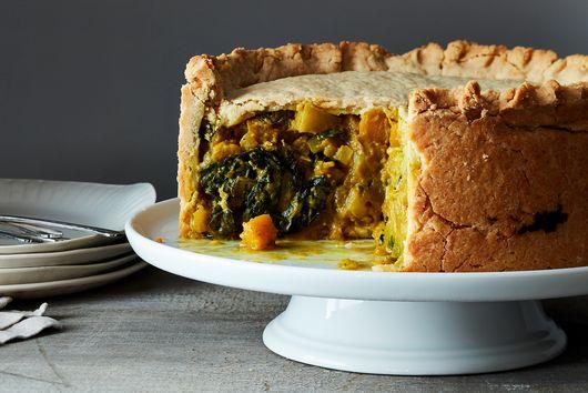Curried Kale, Pumpkin, and Potato Pie