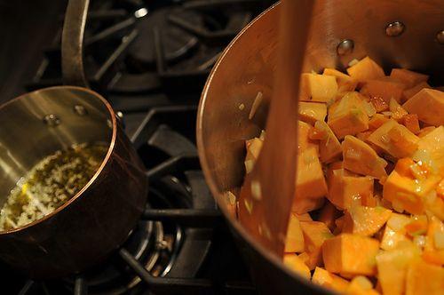 Sweet Potato Soup with Feta and Za'atar Oil