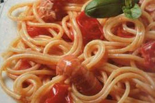 Spaghetti ai Gamberi - Spaghetti with Prawns