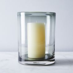Smoke Glass Hurricane & Pillar Candle