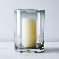 Silo Glass Hurricane & Pillar Candle