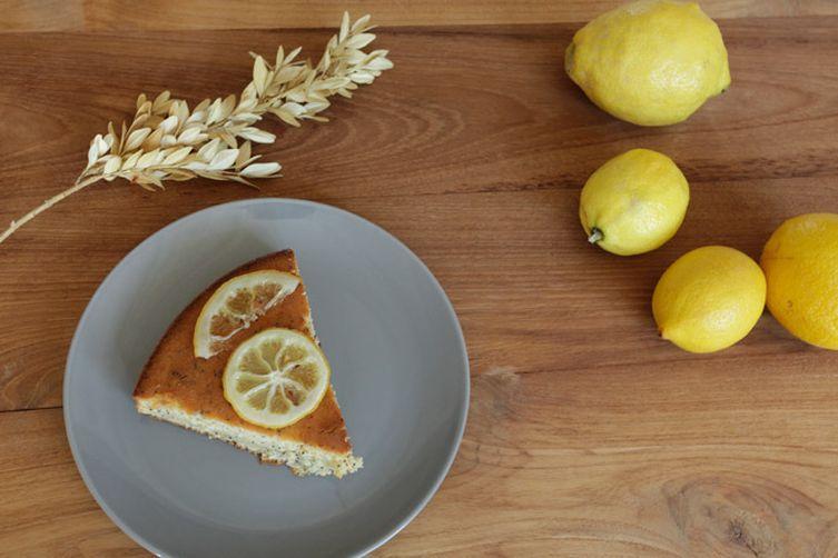 Lemon Poppy Seed Cake with Candied Lemon