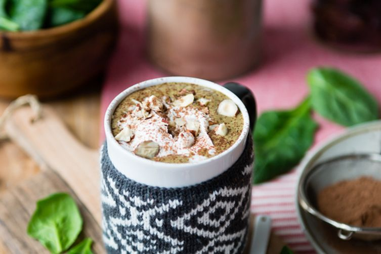 Hazelnut Hot Chocolate Green Smoothie