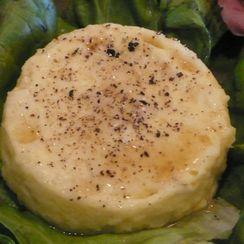 Green Garlic-Horseradish Flan