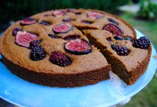 Blackberry Fig Cornmeal Cake