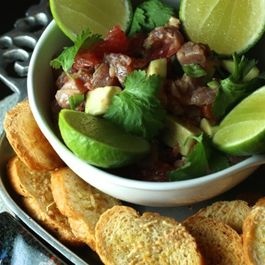 Ahi, avocado & grapefruit thai-style poke