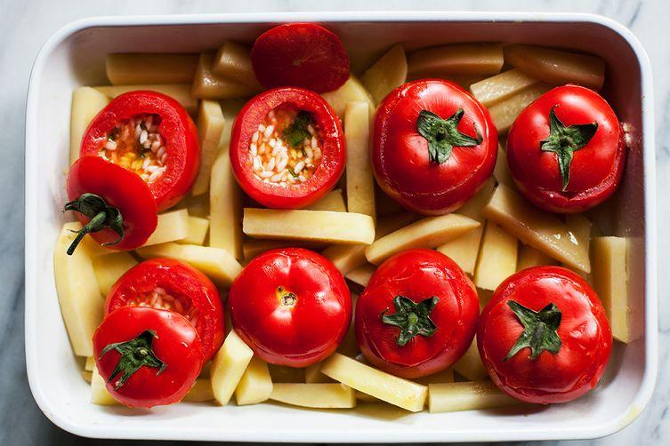 Rachel Roddy's Roman-Style Stuffed Tomatoes With Rice