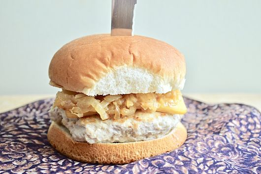 French Onion Soup Chicken Burgers