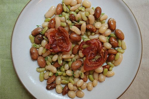 Bean Salad with Pancetta