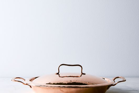 Vintage Copper French Casserole Oven Dish, Late 19th Century