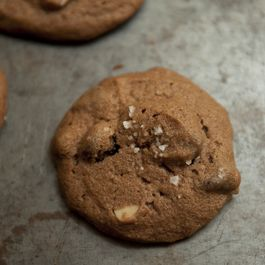 Salted Double Chocolate Peanut Butter Cookies