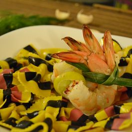 Wicked Pasta with Dynamite Prawns