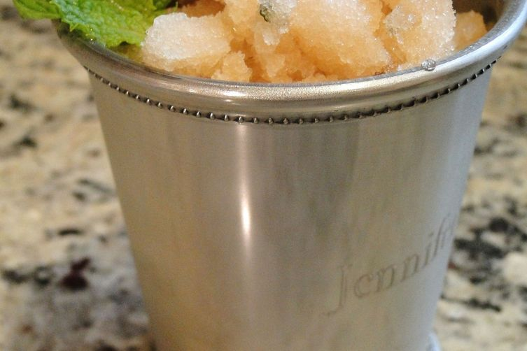 Sweet tea mint julep sorbet