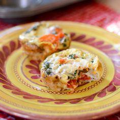 Caprese Baked Omelet Muffins