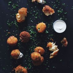 Cheese and lobster bites