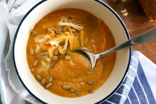 Pumpkin Carrot Beer Cheese Soup