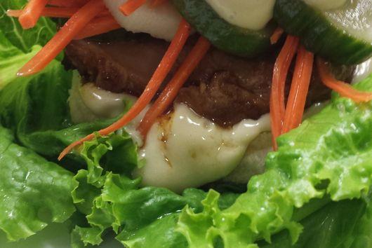 Pork Chop Banh Mi with Wasabi Maple Mayo!!!!!