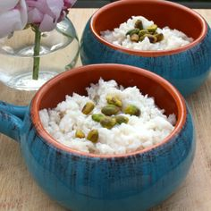 Cardamom Rose Rice Pudding