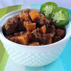 Buffalo and Sweet Potato Chili