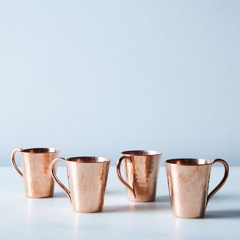 Hammered Copper Mini Mule Mugs (Set of 4)