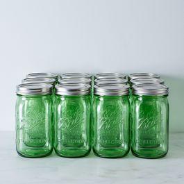 Green Ball American Heritage Collection Quart Mason Jars (Set of 12)
