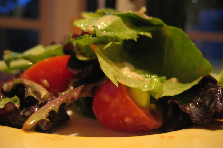 Dijon Anchovy Dressing over Baby Romaine....