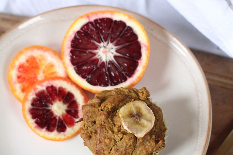Turmeric, Banana & Blood Orange Muffins