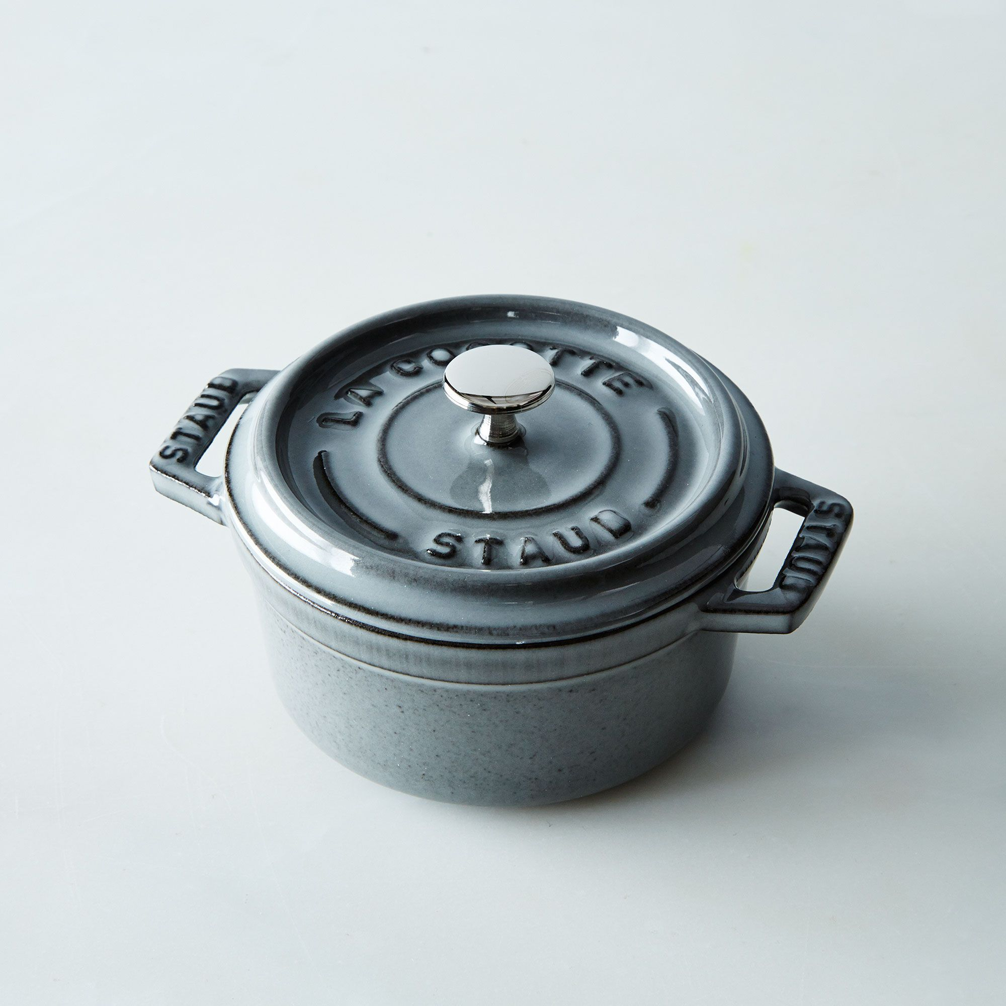 Buy Now Staub Mini Round Cocotte, 0.25QT – Graphite Before Special Offer Ends