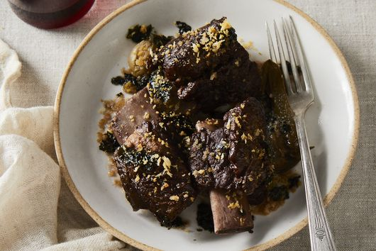 Instant Pot Short Ribs With Roasted Seaweed Gremolata
