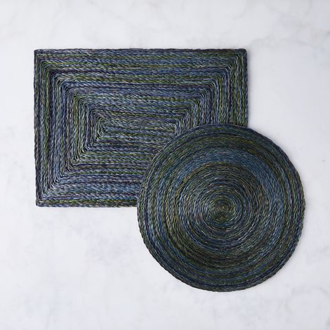 Twisted Abaca Ocean Placemats (Set of 2)