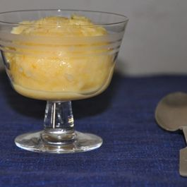 Orange Buttermilk Sherbet