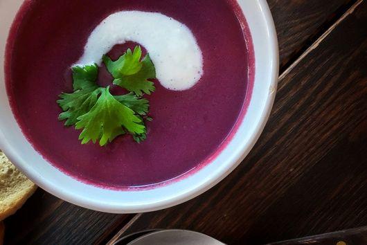 Creamy Purple Carrot Soup