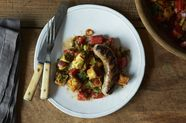 Chris Schlesinger & John Willoughby's Grilled Sausage and Cornbread Salad